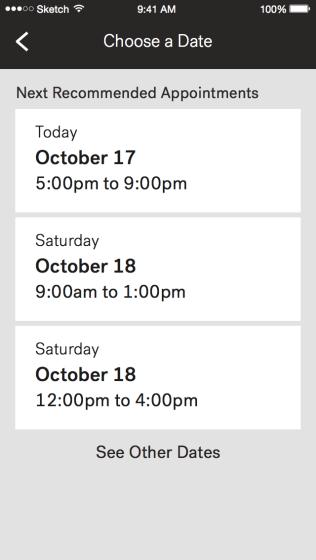 Schedule - Choose a Date